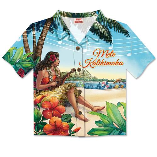 Aloha Shirt Christmas Card