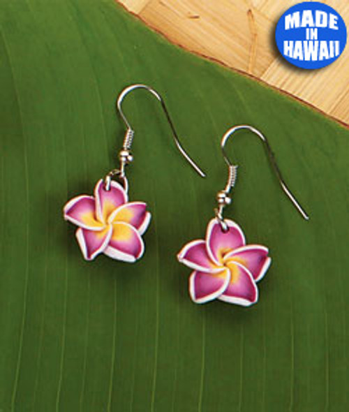 Small Plumeria Dangle Earring by Olu Olu