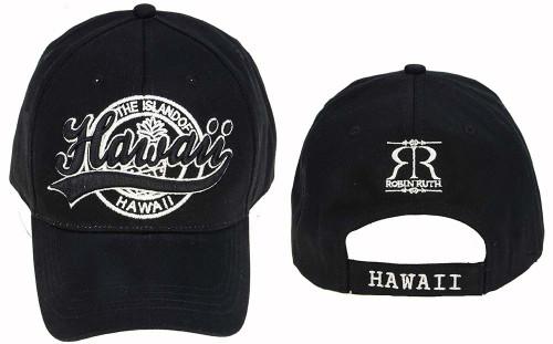 Robin Ruth® Hawaii Stamp Cap in Black Color
