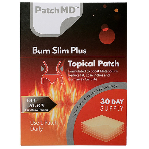 PATCH MD BURN SLIM PLUS TOPICAL PATCH (30 CT)