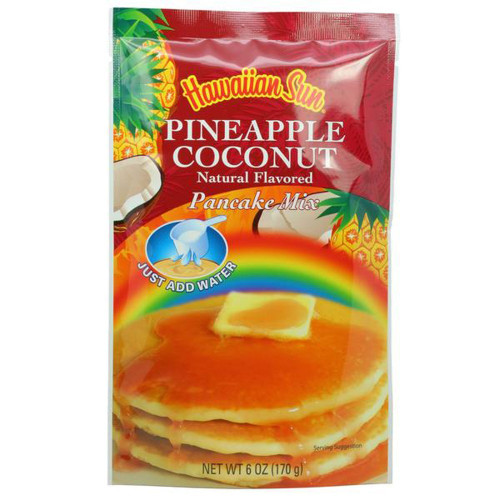 Hawaiian Sun Pineapple Coconut Pancake Mix Single