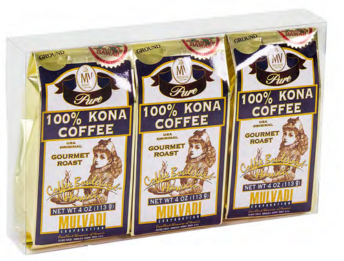Mulvadi 100% Kona Coffee - Gift Set of Three