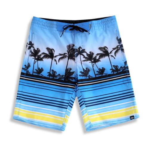 Palmwave Men's Microfiber Board Shorts - Blue Scenery