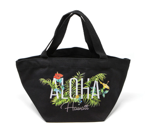 Island Accent Garden Series Lunch Bag in Black Color