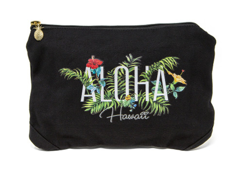 Island Accent Garden Series Clutch in Black Color