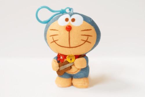 "Doraemon® 4"" Plush with Strap in Standing w/ Ukulele Design"