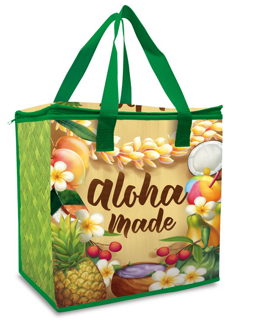 Insulated Non-Woven Shopping Tote in Aloha Made design