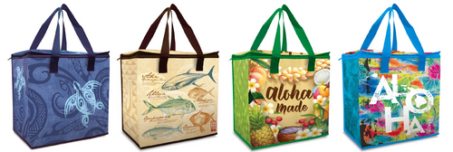 Four Insulated Non-Woven Shopping Totes