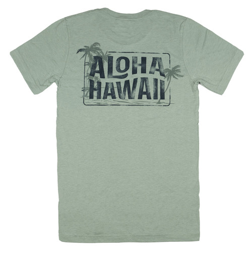 Vintage Dyed Tee - Beach HAWAII in Mint Heather color