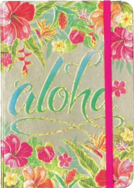 Hawaiian Foil Notebook in Aloha Floral Design