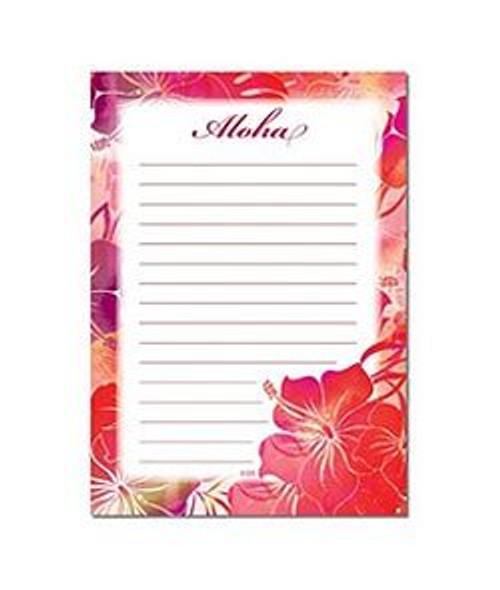 Hawaiian Designed Notepad in Hibiscus Breeze Design
