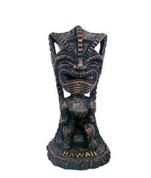 "3"" Hapa Wood Statue in Happiness Tiki Design"