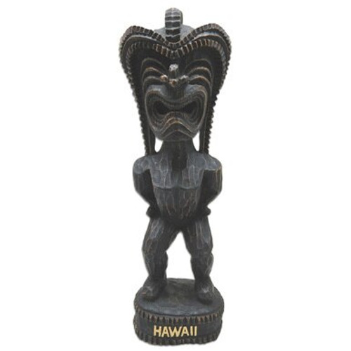 "12"" Hapa Wood Tiki Statue in Lucky Tiki Design"