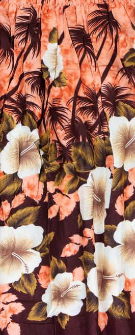 Aloha Sarong - Hibiscus Palm in Orange Color