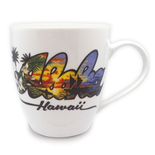Aloha Collection Mug in Aloha Artwork Design