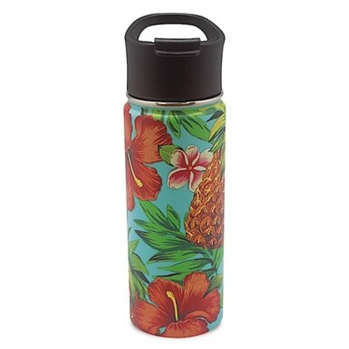 Island Style Flask - Assorted Designs in Tropical Pineapple Style and Teal Color