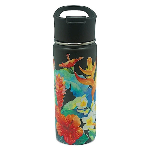 Island Style Flask - Assorted Designs in Island Garden Style and Black Color