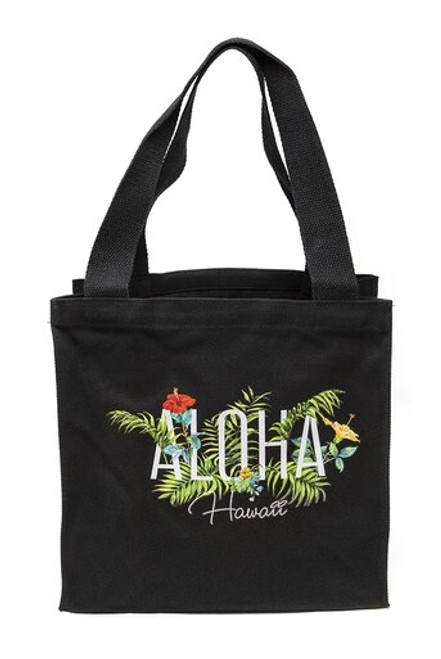 Island Accent Garden Series Tote in Black color and Medium Size