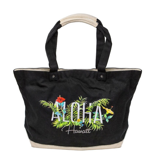 Island Accent Garden Series Tote in Black Color