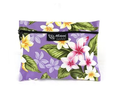 Island Style Cosmetic Pouch by Nani Island in Plumeria Chain style and in Lavender color