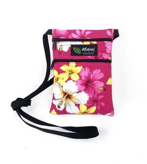 Island Style Passport Bag by Nani Island in Floral Dream style and in Pink color