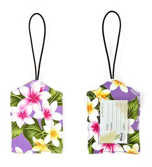 Island Style Luggage Tags - Plumeria Chain