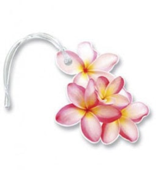 Hawaiian Style Luggage Tag - Assorted Designs - Plumeria Cluster