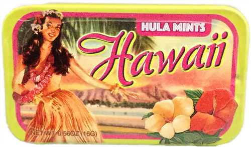 Mints in a Tin - Vintage Hula