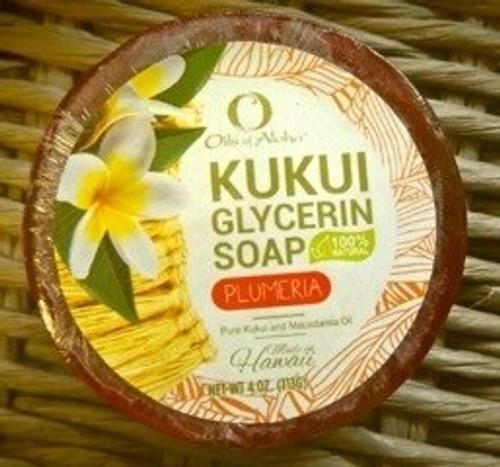 Kukui Glycerin Soap - Plumeria Scent
