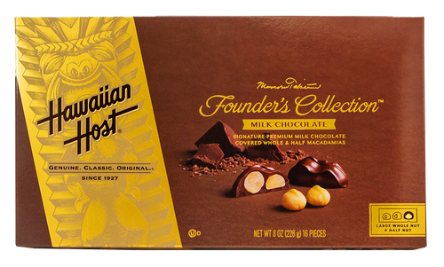 Hawaiian Host Founder's Collection Milk Chocolate Covered Macadamia Nuts - 8 oz box