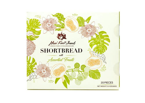 Maui Fruit Jewels - Shortbread Cookies 20pc Box