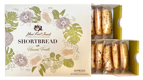 Maui Fruit Jewels - Shortbread Cookies 20pc open Box