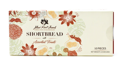 Maui Fruit Jewels - Shortbread Cookies 10pc Box