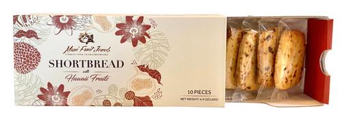 Maui Fruit Jewels - Shortbread Cookies 10pc opened Box