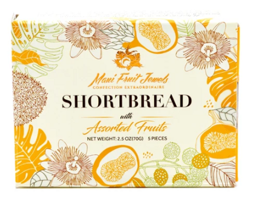 Maui Fruit Jewels - Shortbread Cookies 5pc Box
