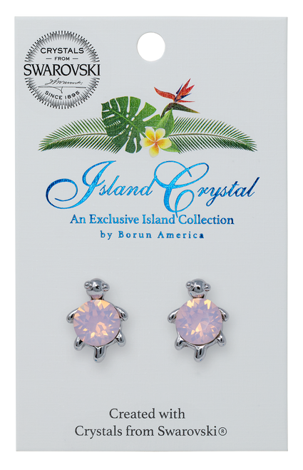 Turtle with Crystal Earrings in opal