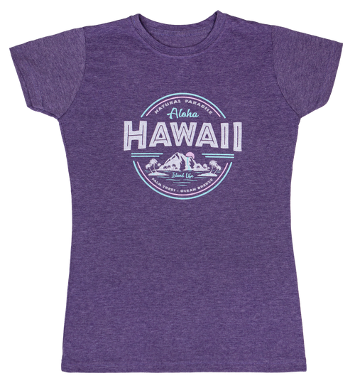 Island Girl® Surf Tee - Island Life - Purple Heather