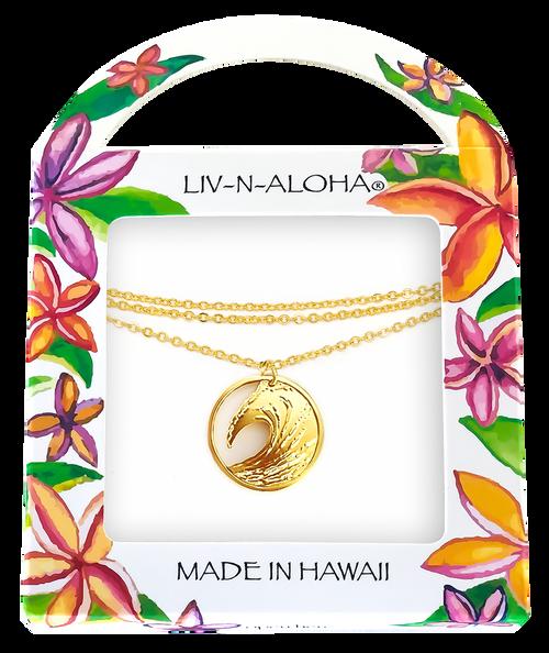 Liv-N-Aloha® Gold Wave Necklace