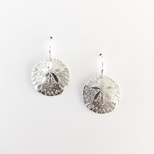 Liv-N-Aloha® Silver Sand Dollar Earrings