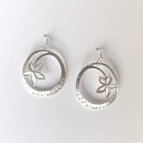 Liv-N-Aloha® Silver Signature Earrings