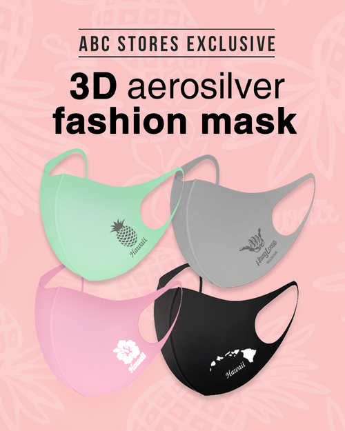 ABC Store Exclusive - 3D Aerosilver Hawaiian Design Fashion Mask