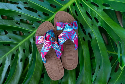 Robin Ruth - Ladies Tropical Floral Slides