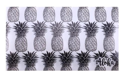 Mask Holder - Hawaiian Design in Black Pineapple Alohadesign