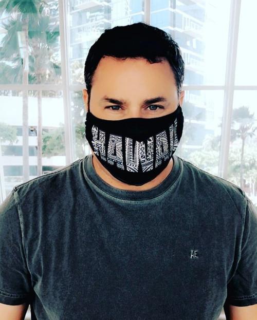 Robin Ruth Face Cover - UV Protection - Tapa Print Hawaii