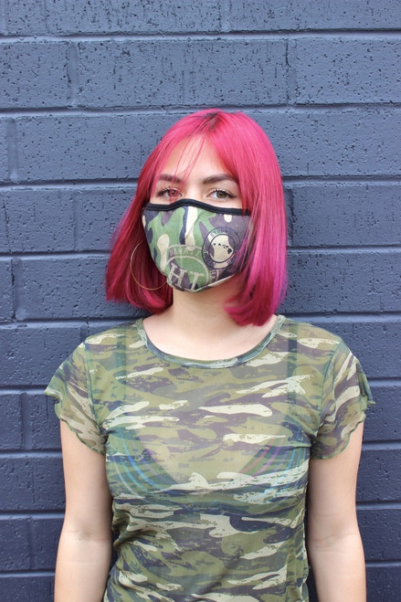 Robin Ruth Face Cover - Cotton - Hawaii Stamp - Camo