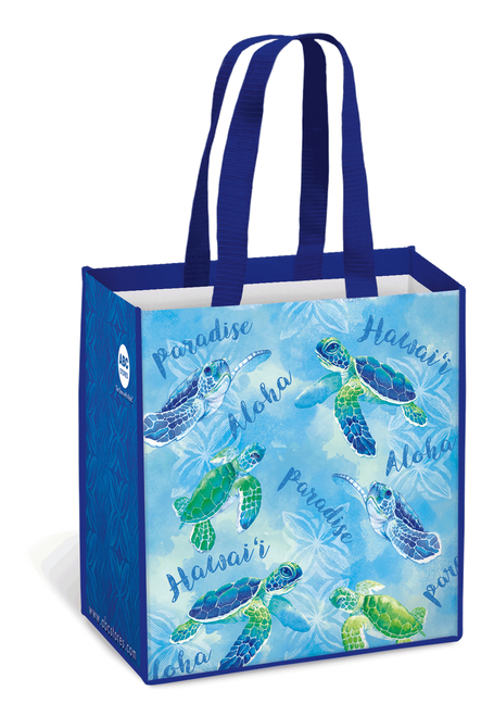 Hawaii Reusable Bags - Assorted Designs in Honu Watercolor design