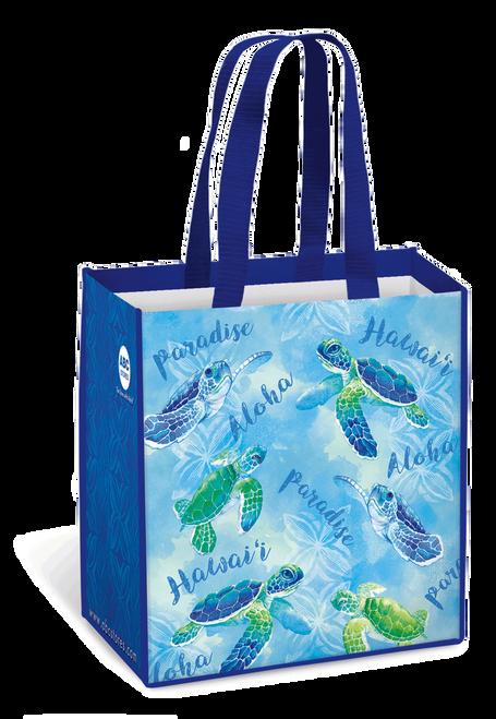 Hawaii Reusable Bags - Assorted Designs in Honu Watercolor design