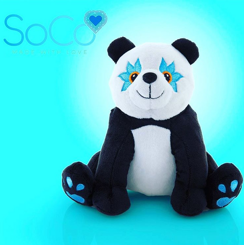Aloha Animals - Blue Eyed Panda by SoCo