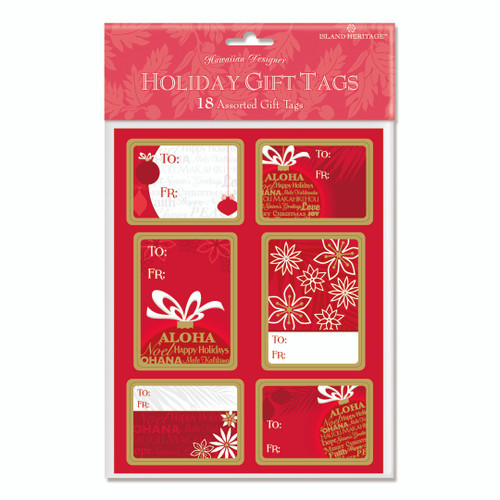 Christmas Gift Tags - Pack of 18 - Island Ornament