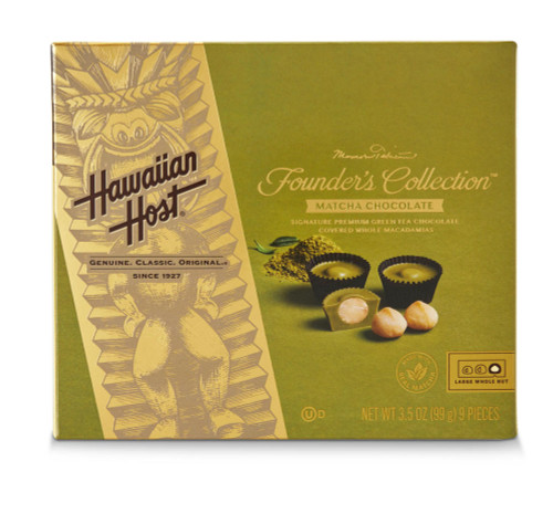 Hawaiian Host Founder's Collection Matcha Chocolate Covered Macadamia Nuts - 3.5 oz box